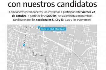 Referentes del PJ invitan a la caminata de candidatos